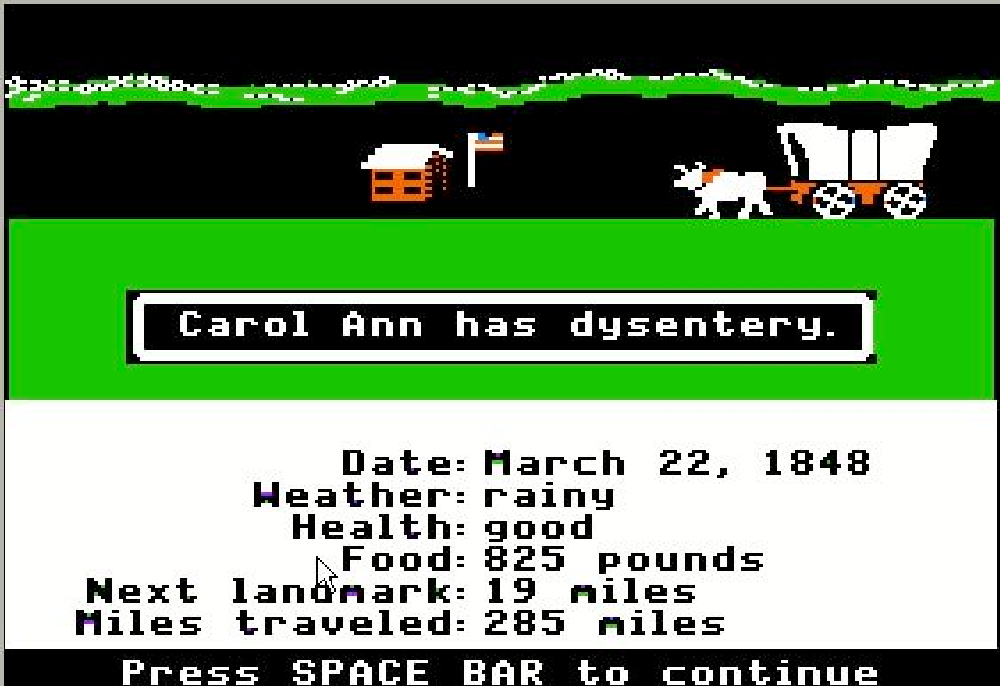 """You have died of dysentery,"""" and what the Oregon Trail video game still  teaches us about health 